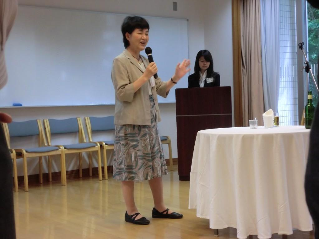 村上文先輩のスピーチ
