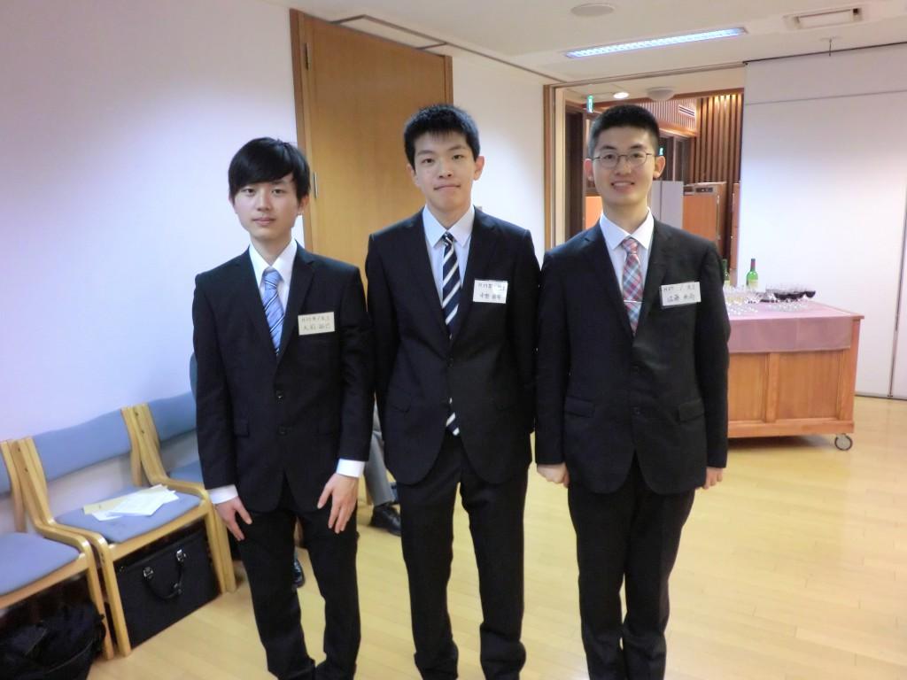 2015年4月入学の3名