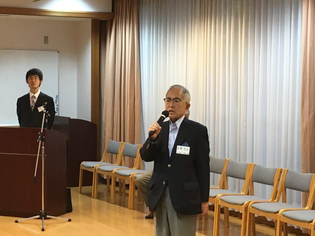 7_遠藤先輩のスピーチ